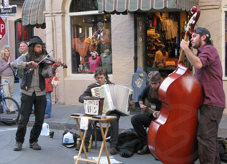 street performers performers music live music people New Orleans USA America travel photo