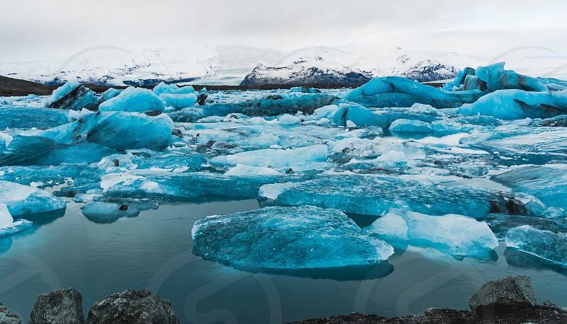 jokulsarlon glacier lagoon Iceland  photo