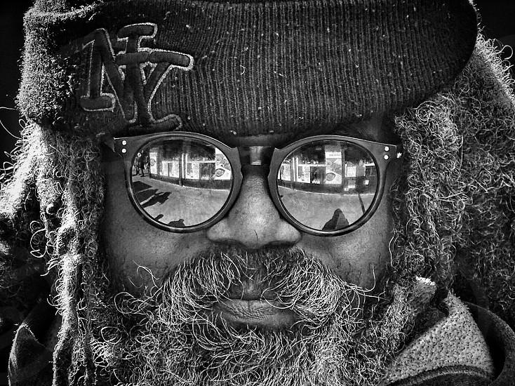 man wearing knit cap photo