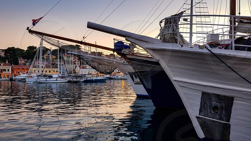 Ships in a marina. photo