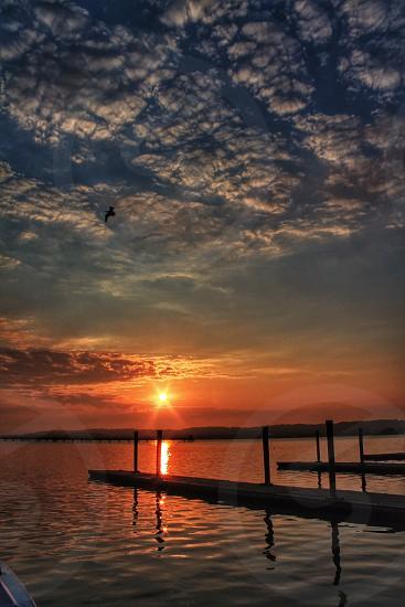 Sunrise over the Potomac River photo