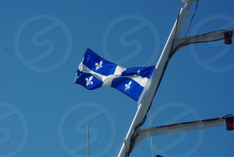 Drapeau du Québec Percé QC Canada  photo
