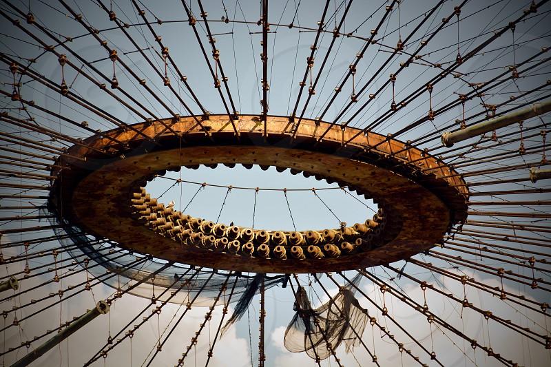 brown round sculpture photo