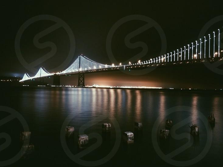 brown bridge with light photo