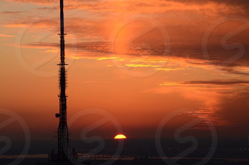 black tower beside see photo