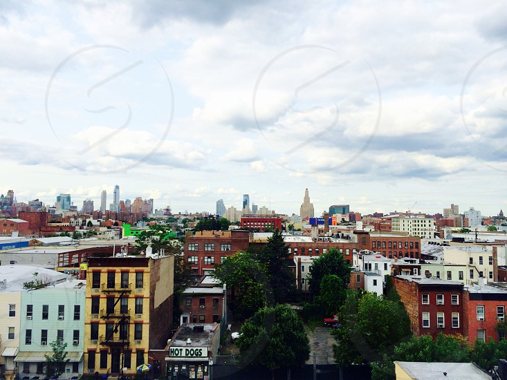 NYC Cityscape from Brooklyn train view photo