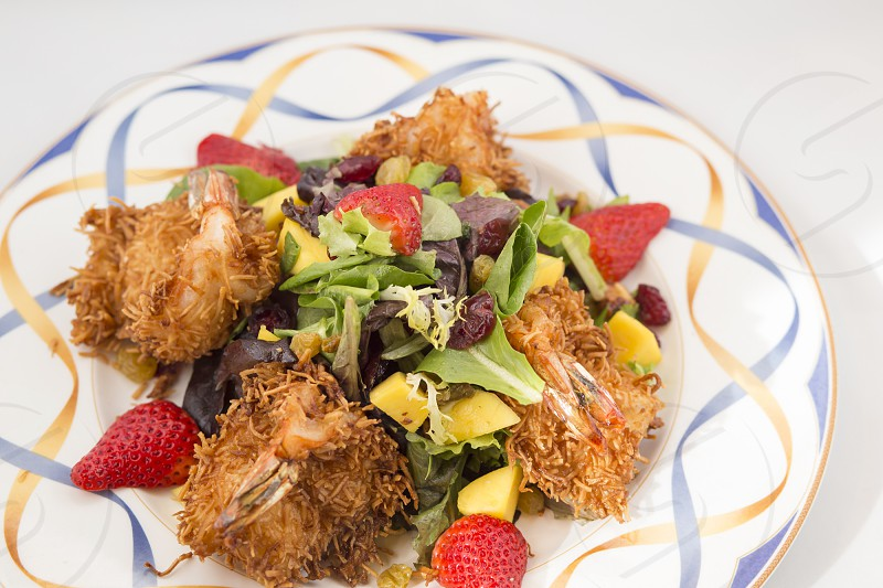 Coconut shrimp salad  photo