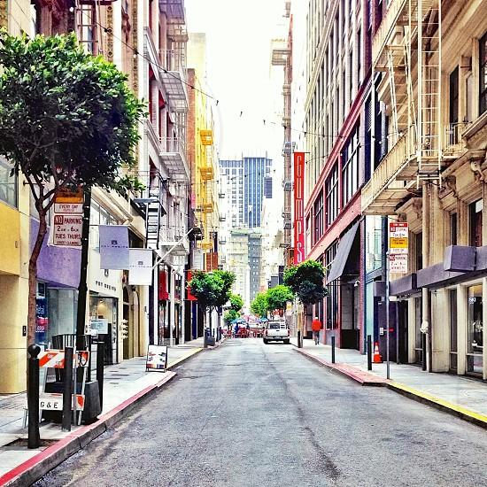 City street in San Francisco.  photo