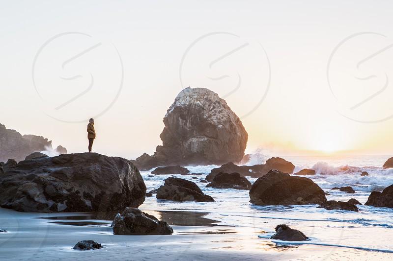 Nature Light Sunset Exploration Fitness Lifestyle  California San Francisco Ocean Pacific photo