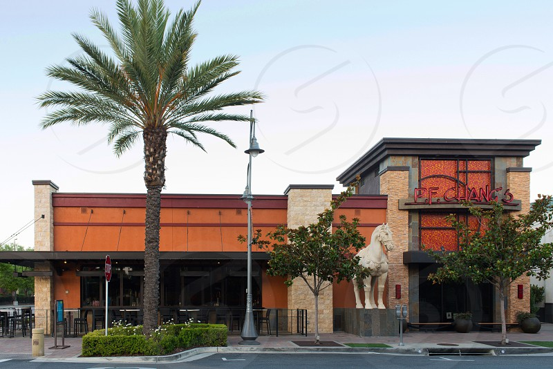 P.F. Chang's restaurant entrance building landscape Temecula Southern California  photo