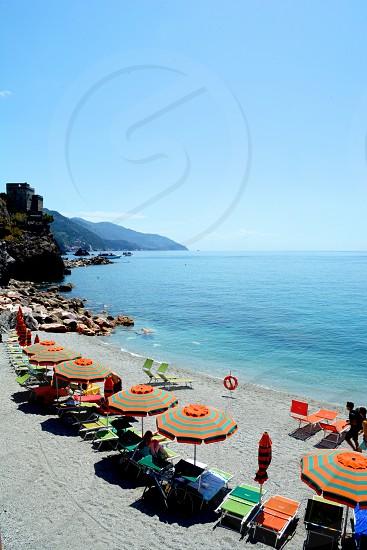 Monterosso Beach Cinque Terre Italy photo