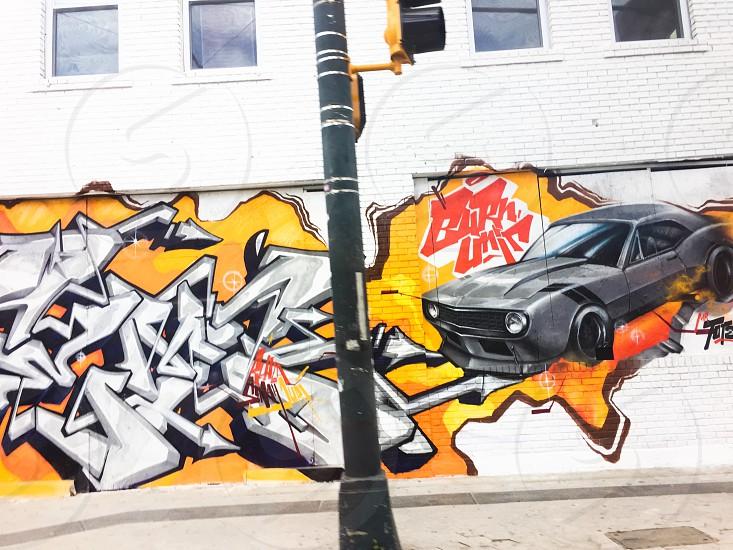 Graffiti Car Wall City Urban  photo