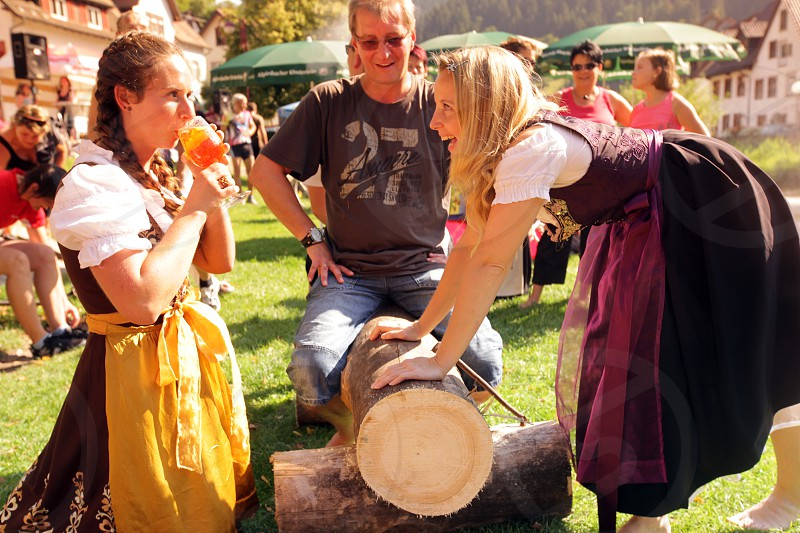 a summerfest in the old town of the villige Schiltach in the Blackforest in the south of Germany in Europe. photo