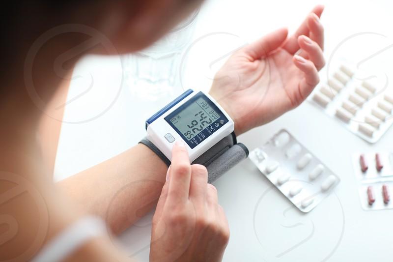 High blood pressure. photo