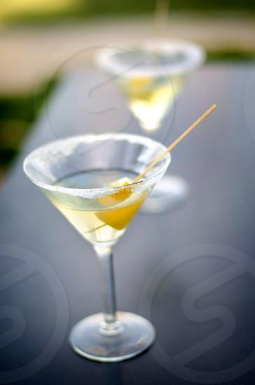Salted Vodka glasses lemon slice drink party photo