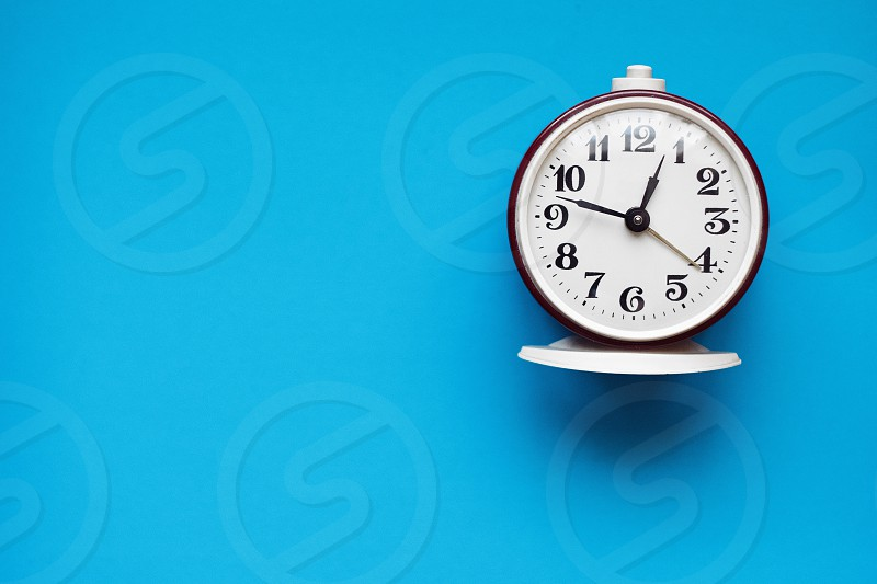 Blue clock  photo