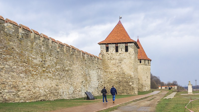 Bender Moldova - 03.10.2019. Old historic Fortress in Bender city Transnistria Moldova photo