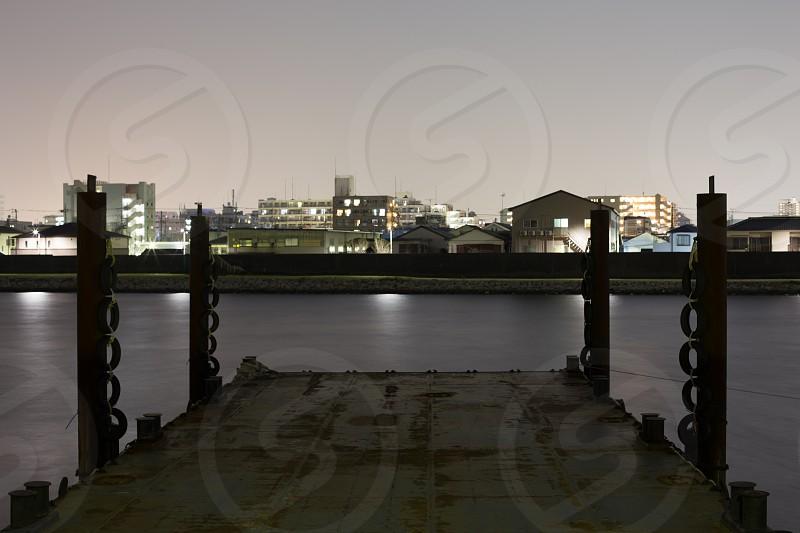Edogawa River Barge Chiba photo