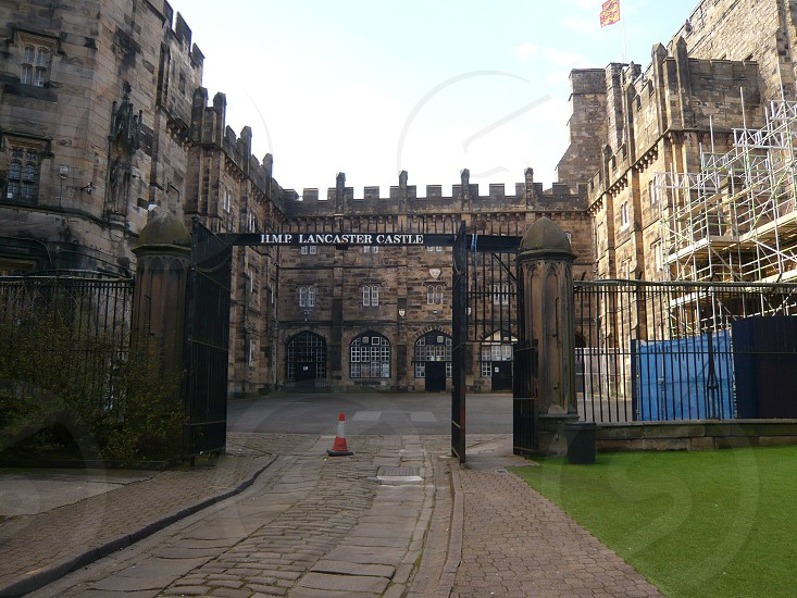 UK. ENGLAND. LANCASTER. The entrance to the Castle formerly a prison. now open as a museum and attraction. photo