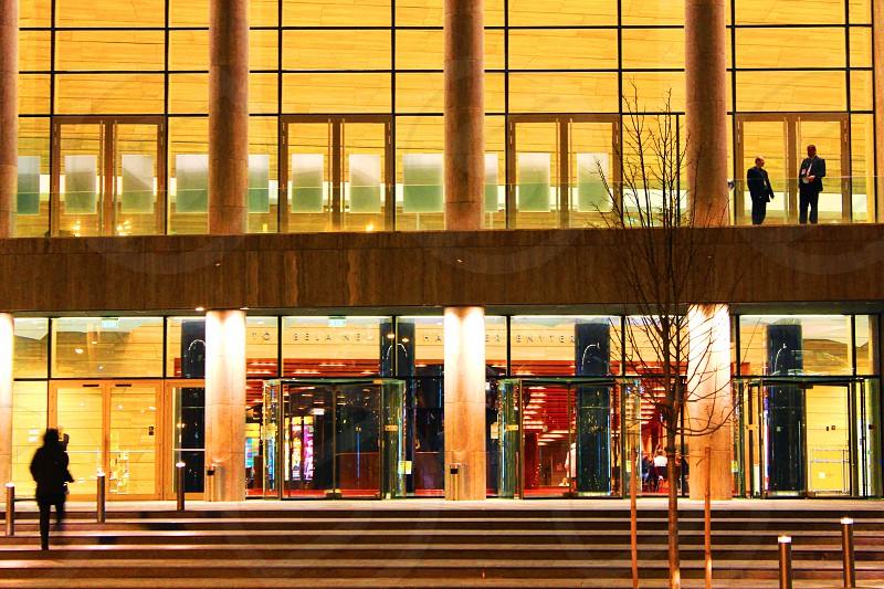 Business building at night photo