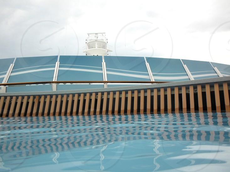 Swimming pool edge photo