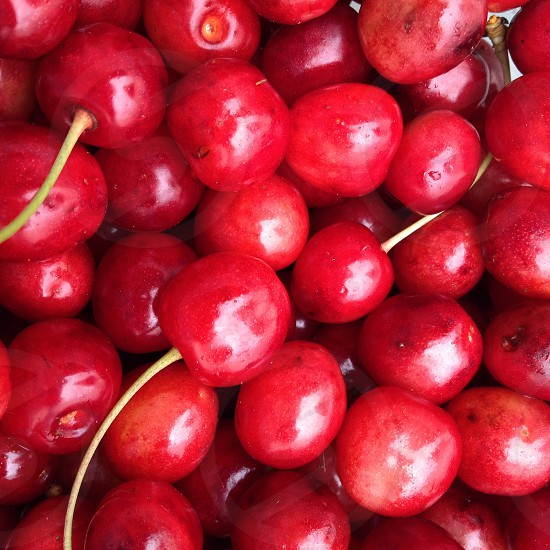 Cherry. Pattern.  photo