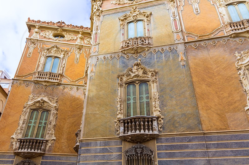 Valencia Palacio Marques de Dos Aguas palace facade in alabaster at Spain photo