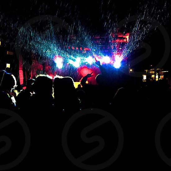 Concert rain negative space  Nikon photo