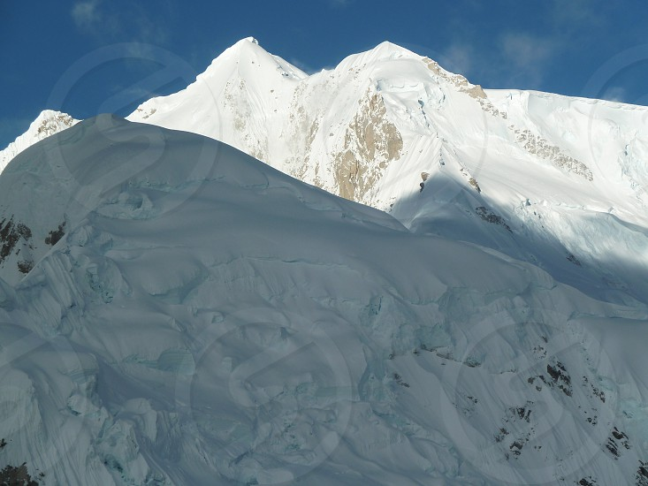 Alaska Mt McKinley Snow photo