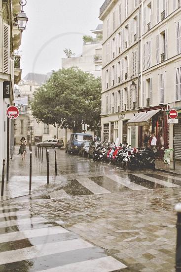 Rainy day in Paris photo