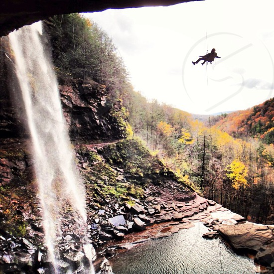 Waterfall hanging out  photo