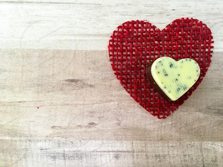 Chocolate heart photo