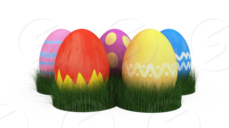 3D illustration of easter egg photo