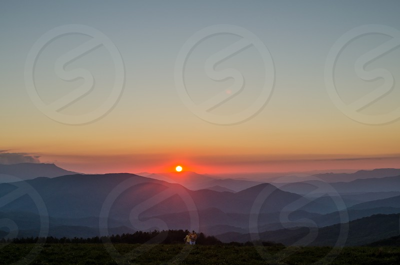 Sunset at Max Patch in Pisgah National Park NC. photo
