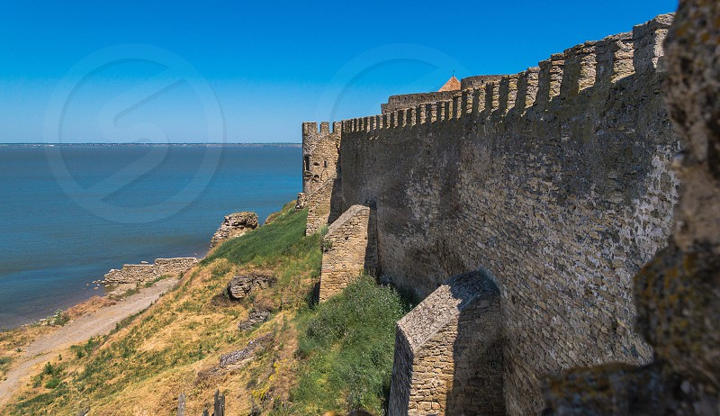 Akkerman Citadel in Bilhorod-Dnistrovskyi near Ukrainian Odessa city in a sunny day photo