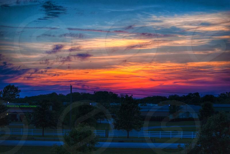 Sunset over Grove City Ohio Visitor Center. photo