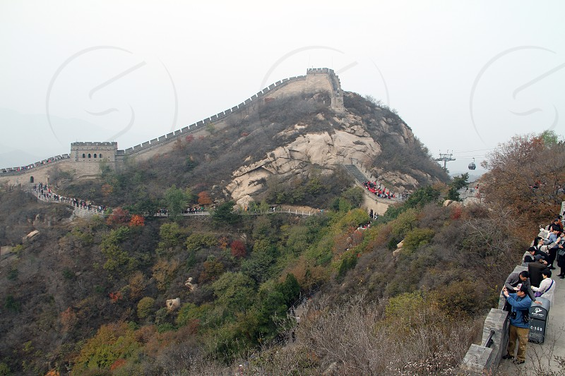Great wall of China in Badaling Northern Beijing China Asia. photo