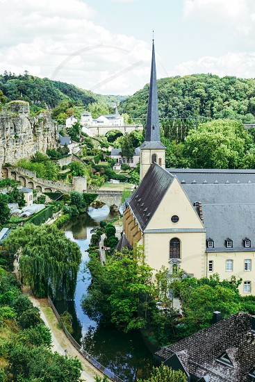 Luxembourg Church Storybook River Village  photo