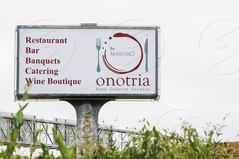Onotria streeet sign photo