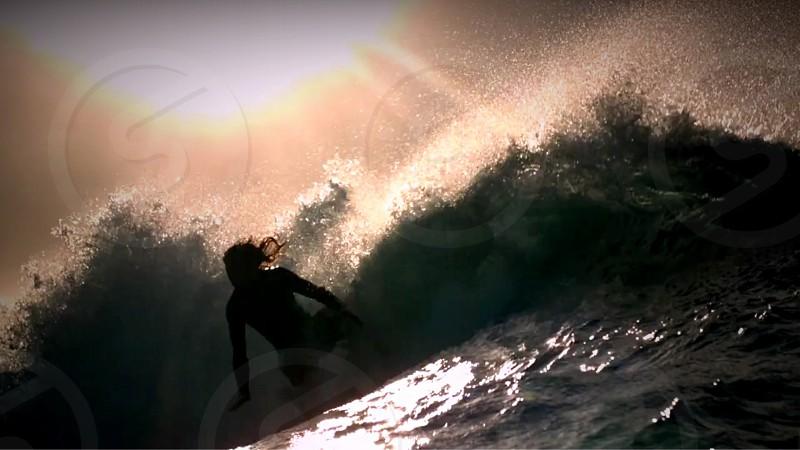 surfer ocean summer fun photo