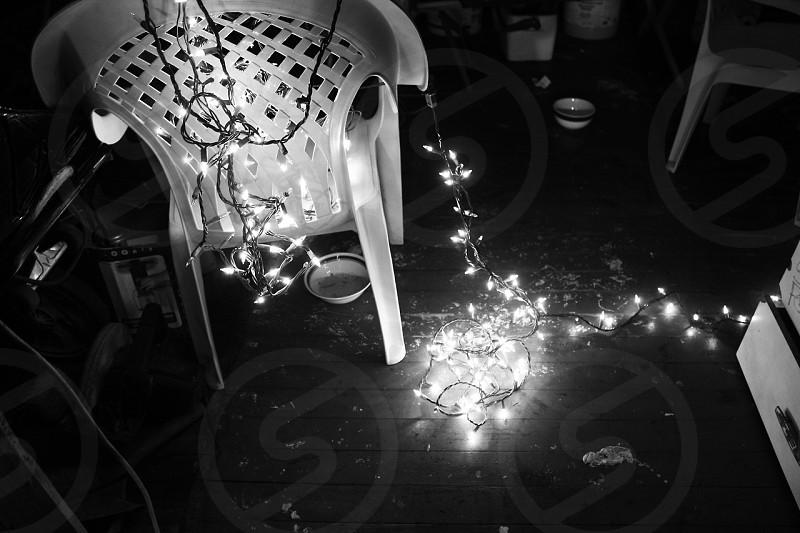 led lights on floor photo