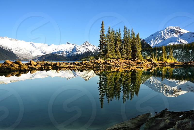 Garibaldi Lake in Garibaldi Provincial Park British Columbia. photo