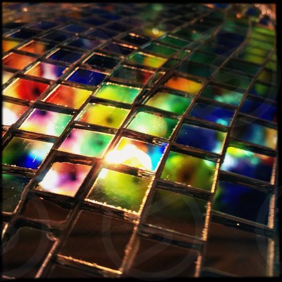mosaic reflective tiles photo