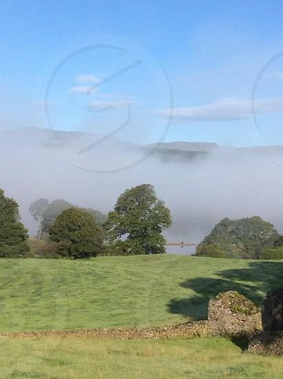 The Lake District summer mist Near Sawrey photo