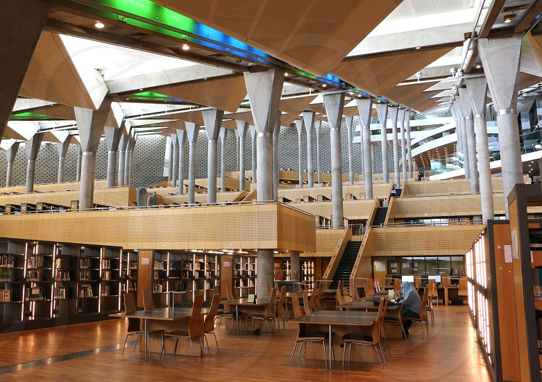 Inside Alexandria Library Egypt photo