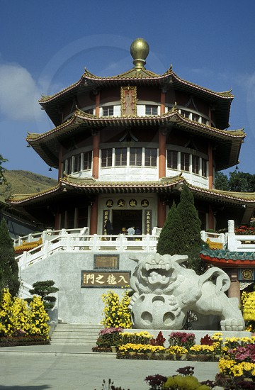 Der  traditionelle Tempel Man Mo in Hong Kong Island in Hong Kong in Suedost Asien. photo