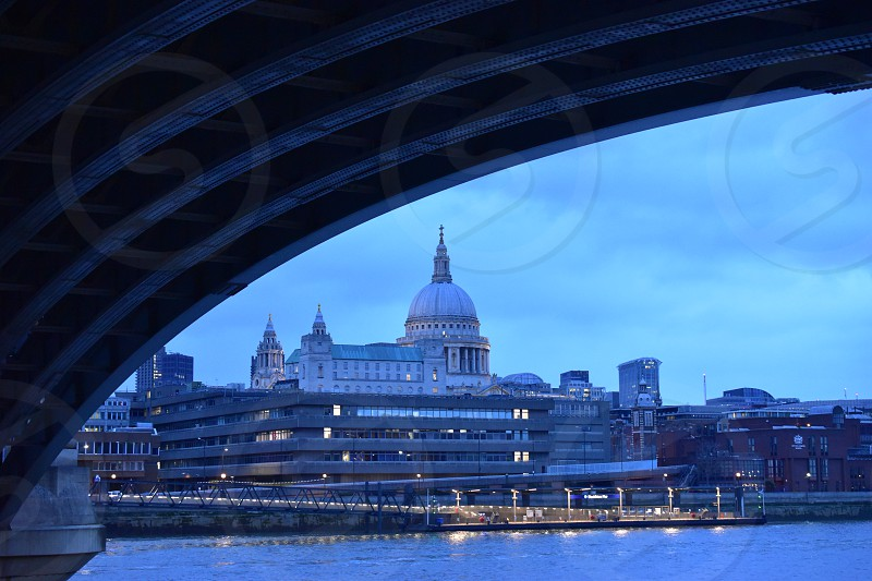 London view towards St.Paul's Cathedral photo