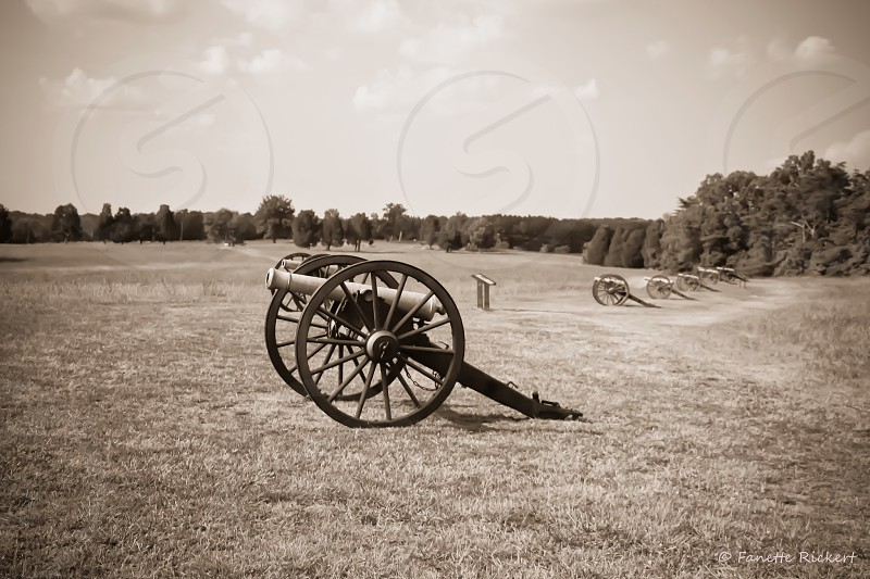 manassas battlefield canons landscape photo