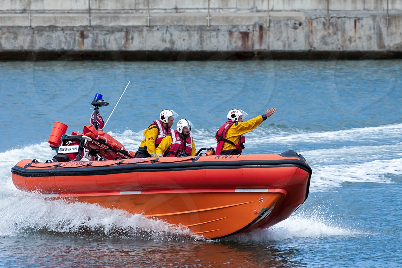 RNLI Lifeboat Display  at Staithes North Yorkshire photo