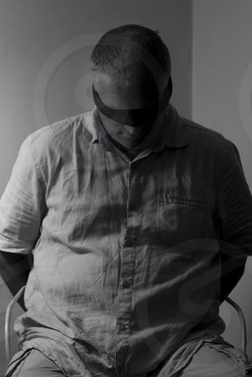 mens white linen shirt photo